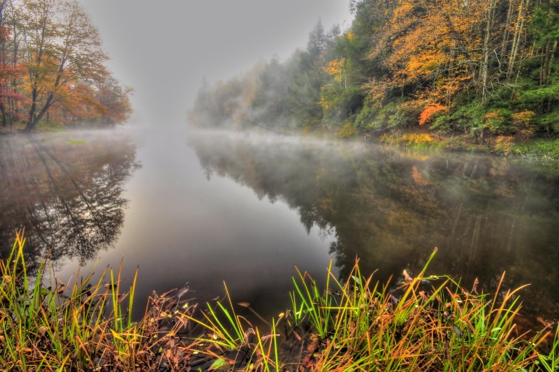 Mist on Hust Pond