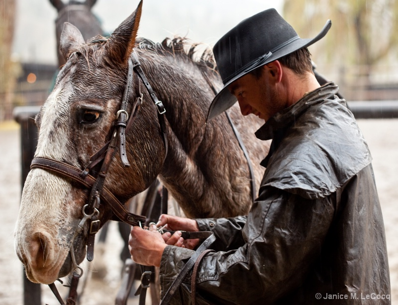 Dude Ranch:  Tacking Up for the Guests