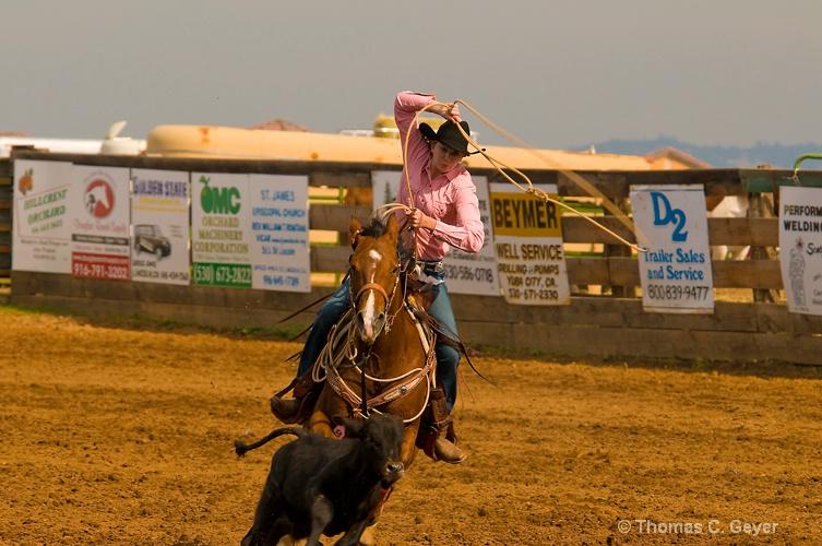 High School Rodeo, Girls Calf Roping
