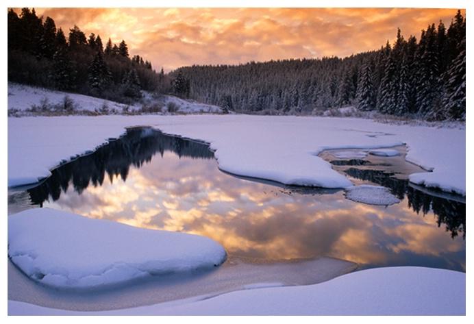 Winter Sunrise, Cypress Hills SK