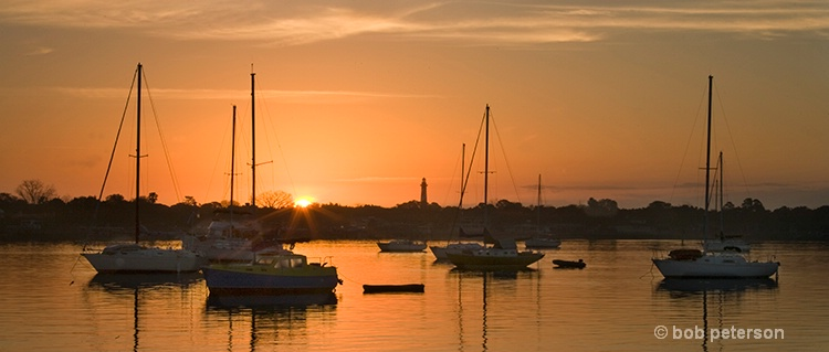 sunrise on St Augustine Harbour