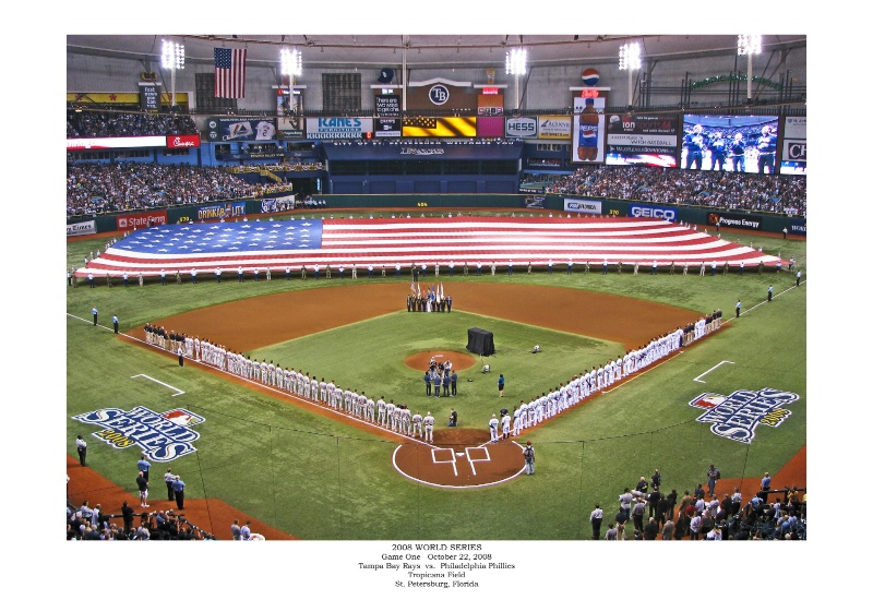 First Game of the 2008 World Series