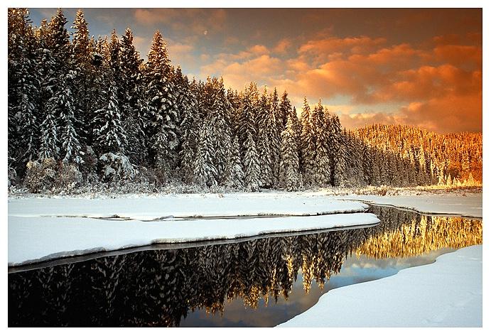 Highland Winter Sunrise, Cypress Hills SK
