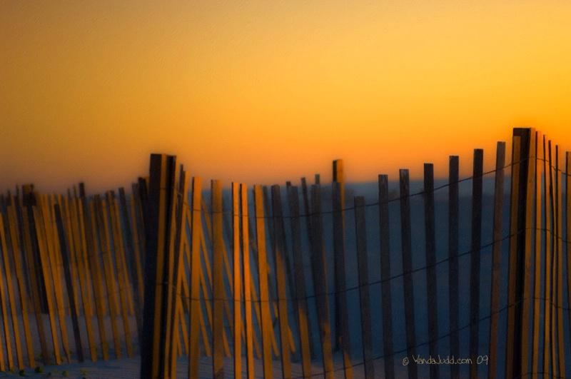 Sand fences and Sunrise II