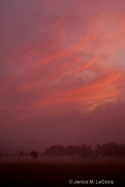 Ground Fog Sunrise