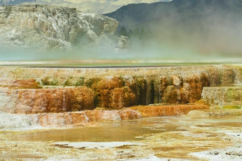 Main Terrace, Mammoth Hot Springs.