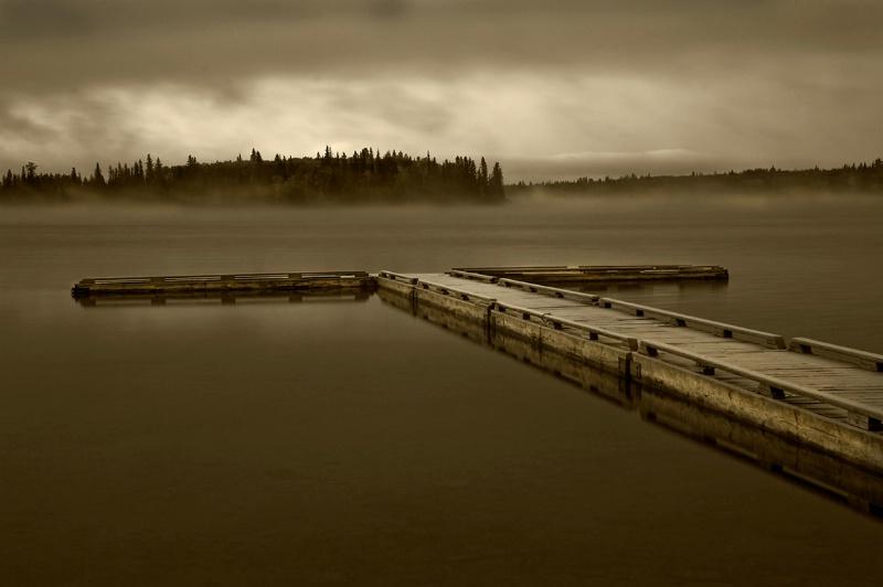 Lonely Pier - Sheridan Lake