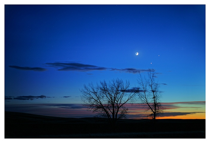 Moon Venus Jupiter Conjunction, Dec 1st, 2008