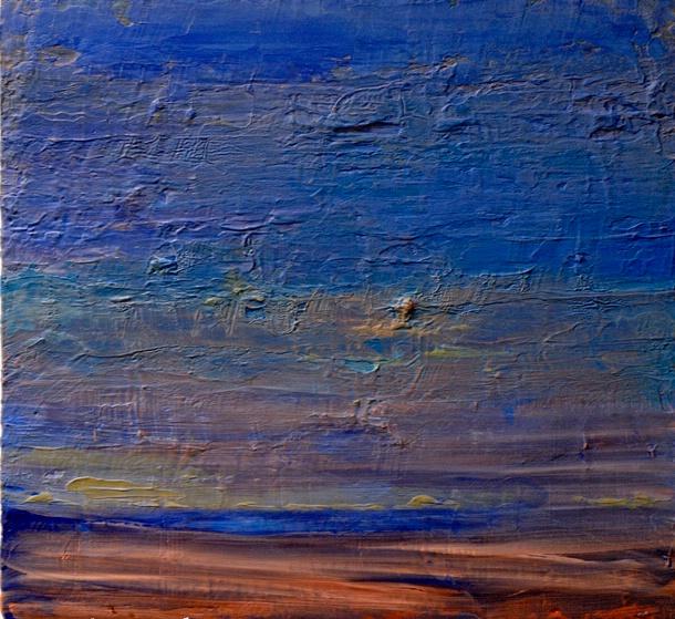 """Blue Landscape 20""""x19"""""""