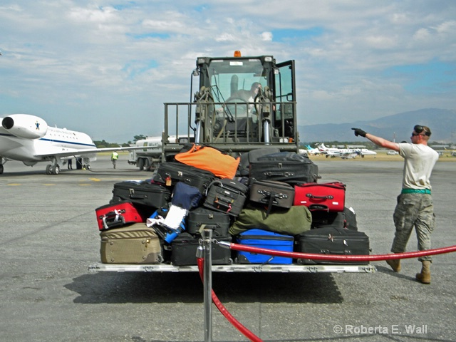 our luggage for departure