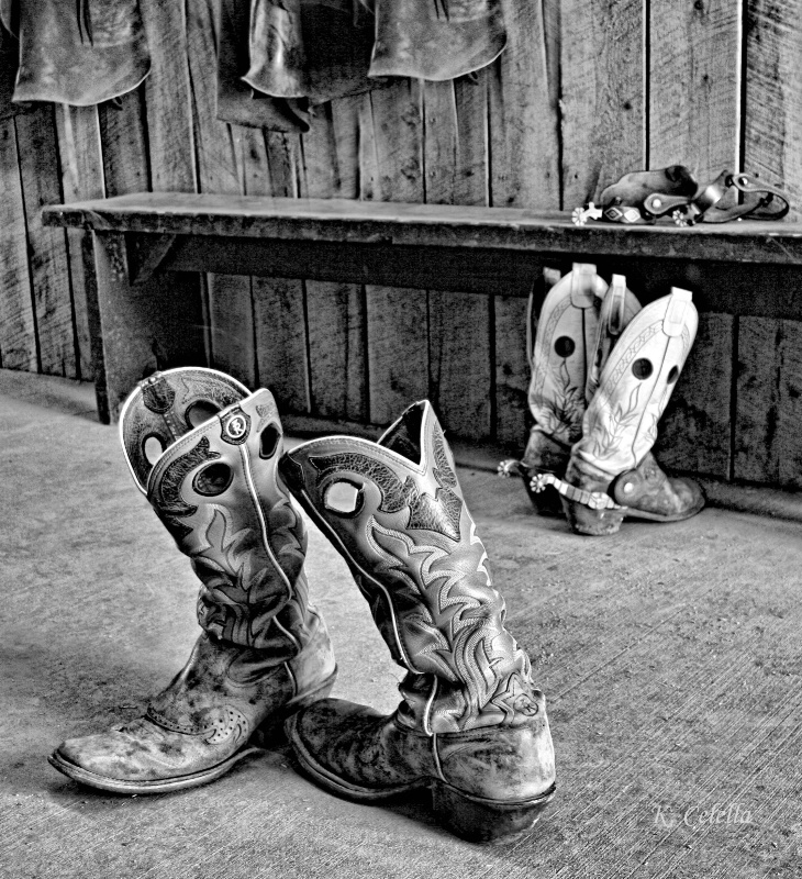 Boots in B&W