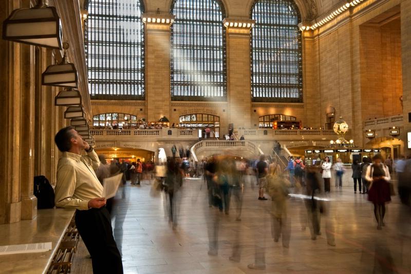 """""""Beaming at Grand Central"""""""