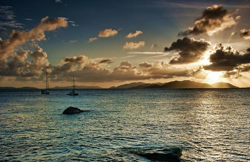 Tortola sunset