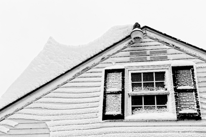 snowy rooftop