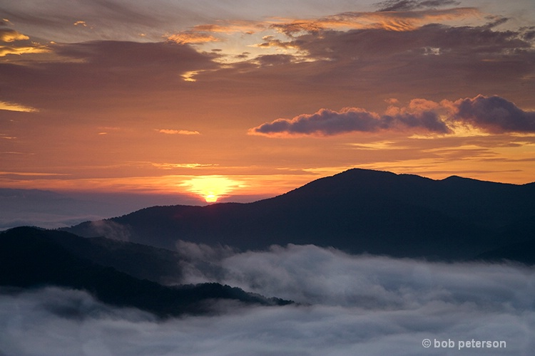 sunrise over Celo Knob, NC