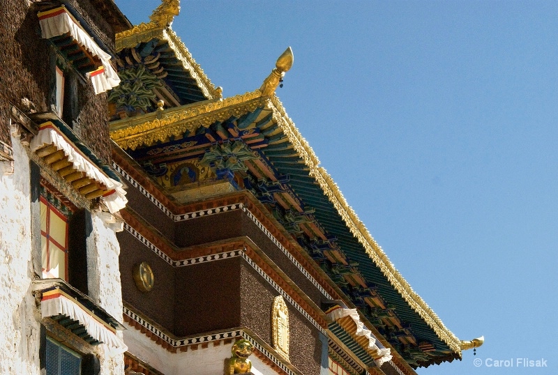 Looking Up at Tashi Lhunpo