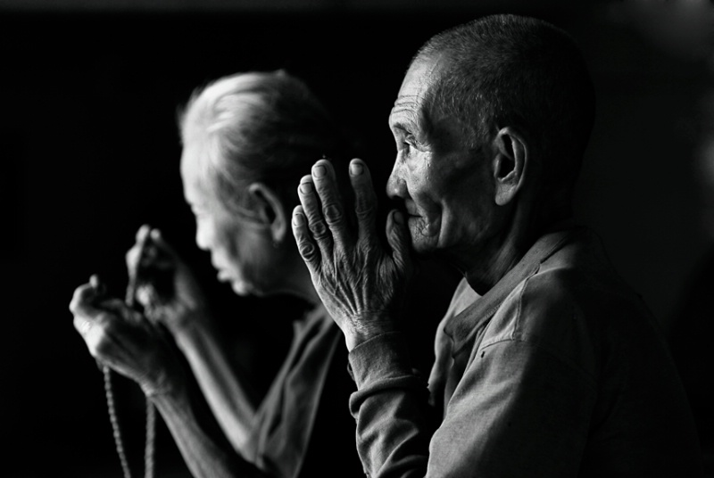 The Old couple from Myanmar