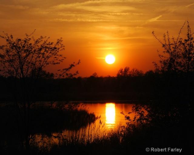 Sunset over indiana