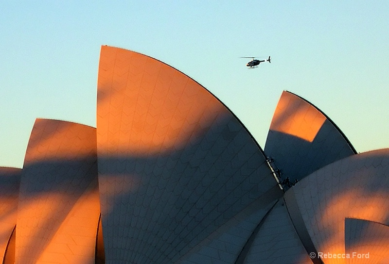 Opera House with Heli