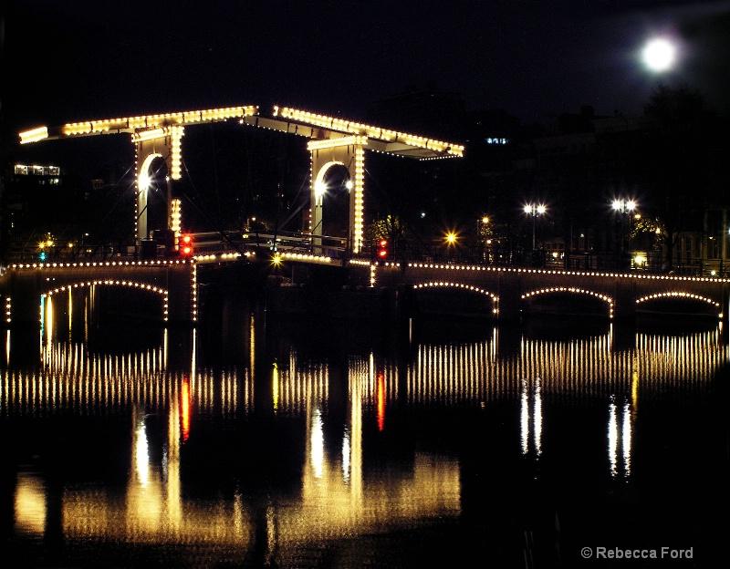 Full Moon Over Skinny Bridge, Amsterdam