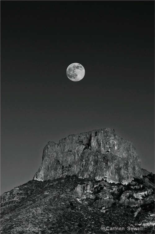 Full Moon Over Big Bend
