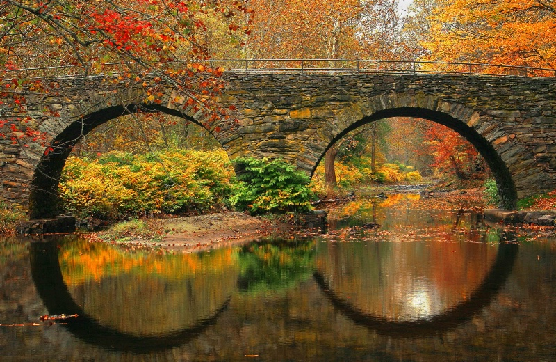 Fall Arch Reflections