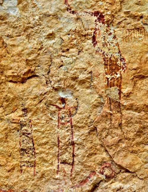 4,500 year old pictograph ascending anthropomorph