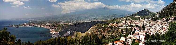 Taormina, Sicily and Mnt Etna