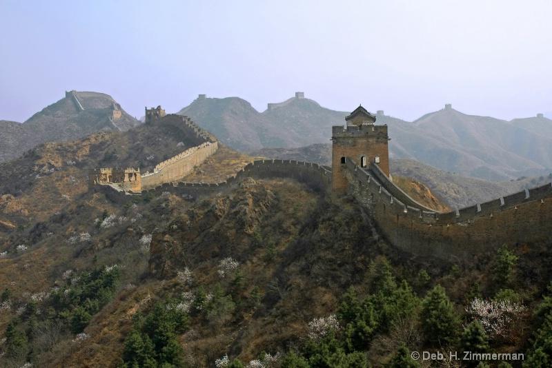 May morning haze on JinShanLing Great Wall