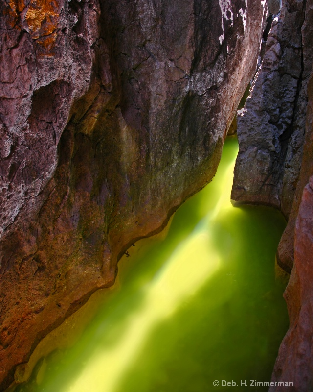 an unearthly green