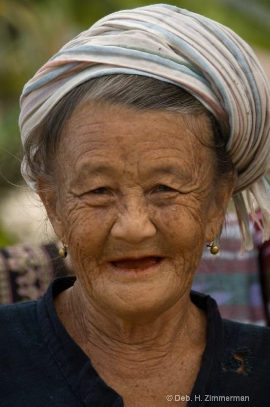 Elderly Laotian woman along the Mekong