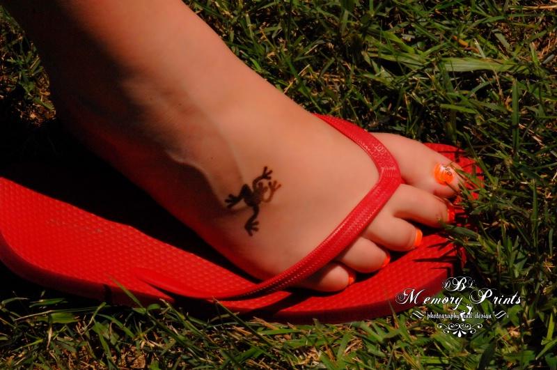 """Orange Flip Flops And A New Tattoo!"""