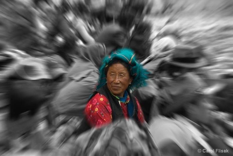 Center of the Crowd ~ Reting Monastery, Tibet