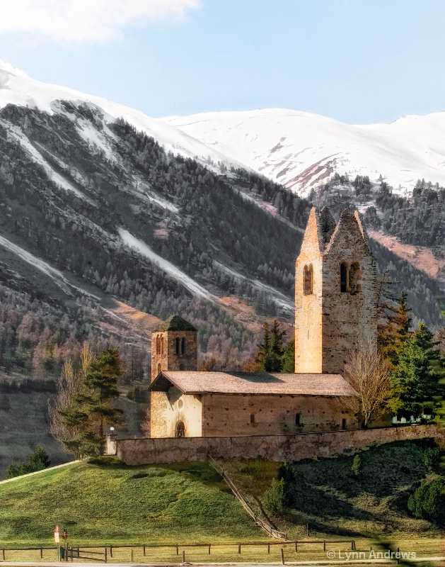 Monastery in the Italian Alps