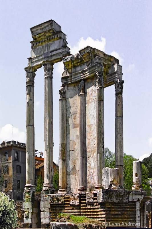 Ruins of the Temple of Castor and Pollux, Rome