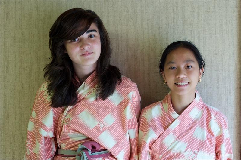 yumiko and sally in yukata