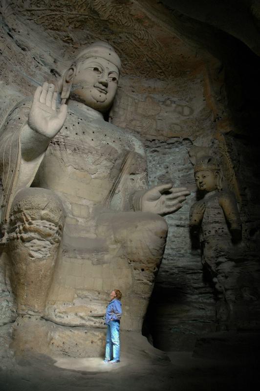 Jan in the presences of Budda