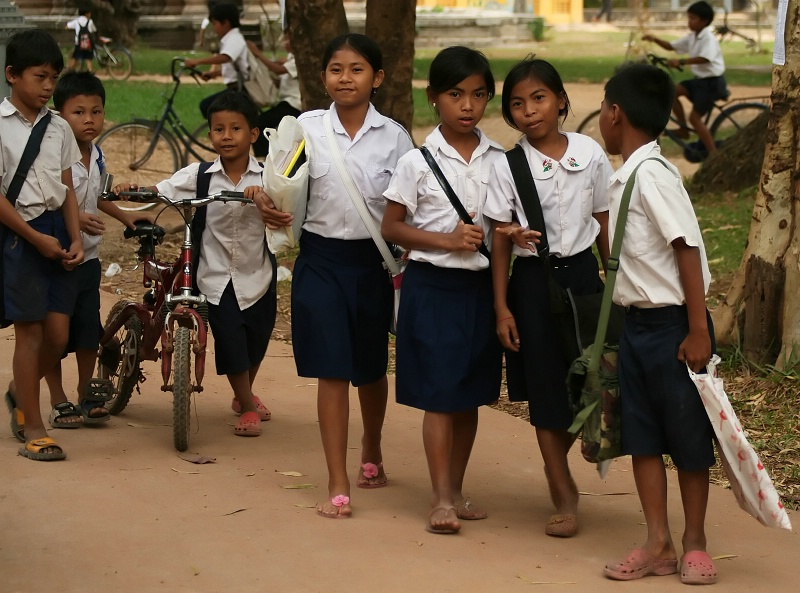 Phnom Penh School Kids