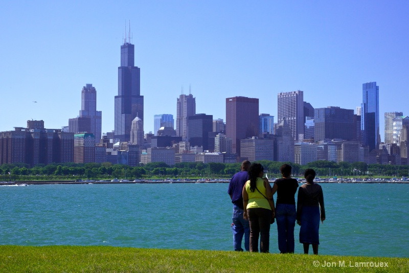 The skyline from Adler Planetarium