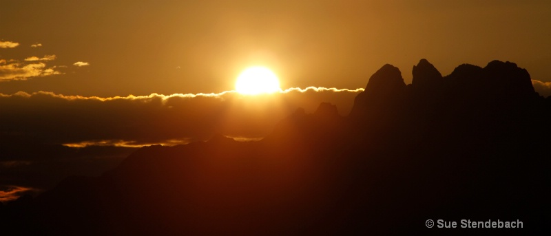 Sun Surfacing From Organ Mtns., Las Cruces, NM