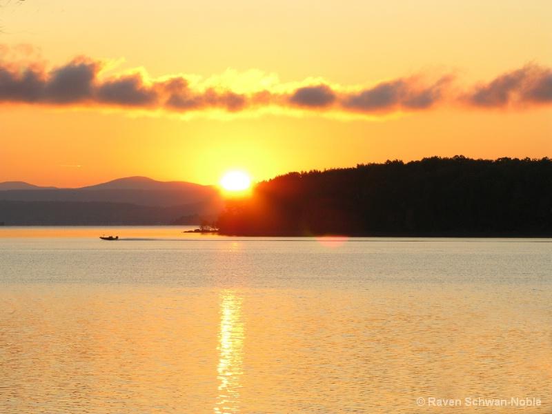 Morning Sunrise Champlain Islands VT