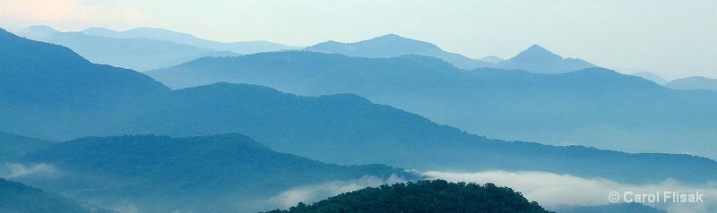 Morning Fog on the Blue Ridge Parkway, NC