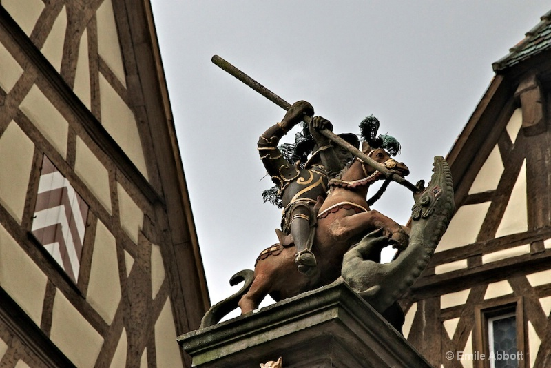 Close up St. George Slaying the Dragon