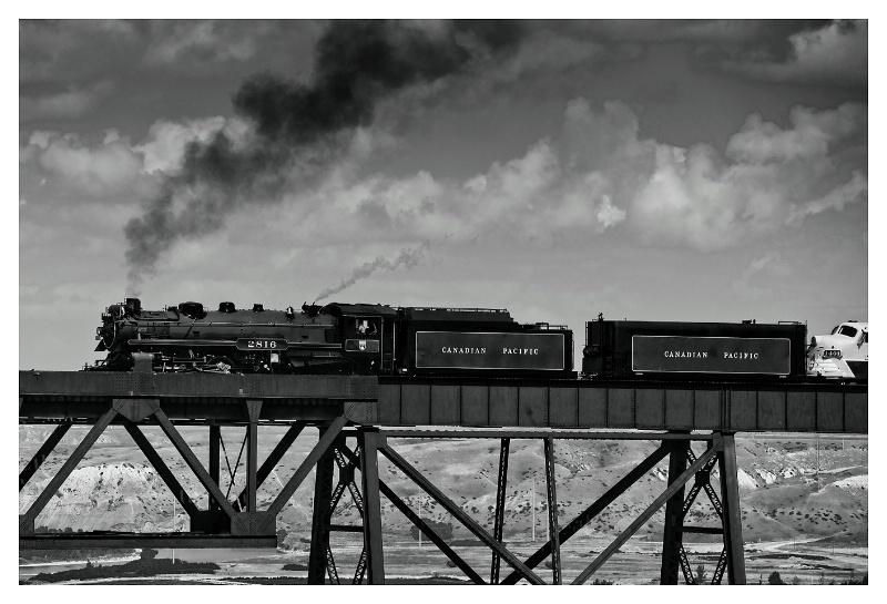 2816 Empress Steam Train, Lethbridge August 2010
