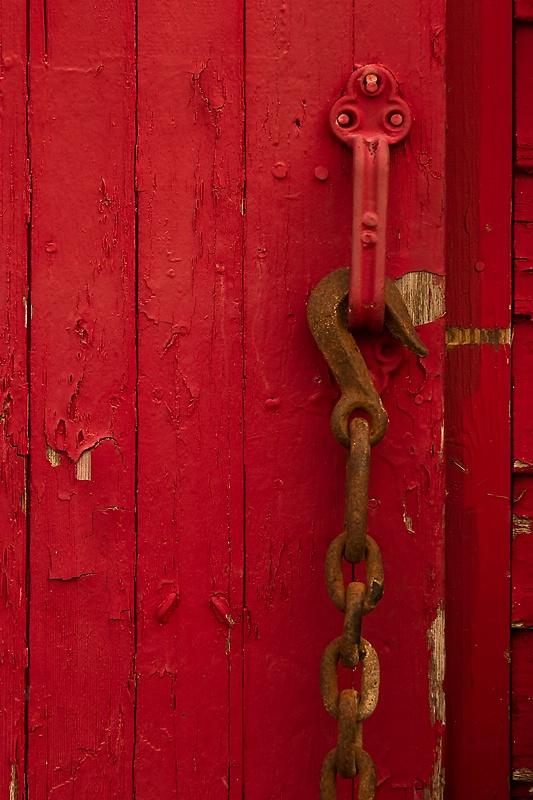 Barn Door and Chain