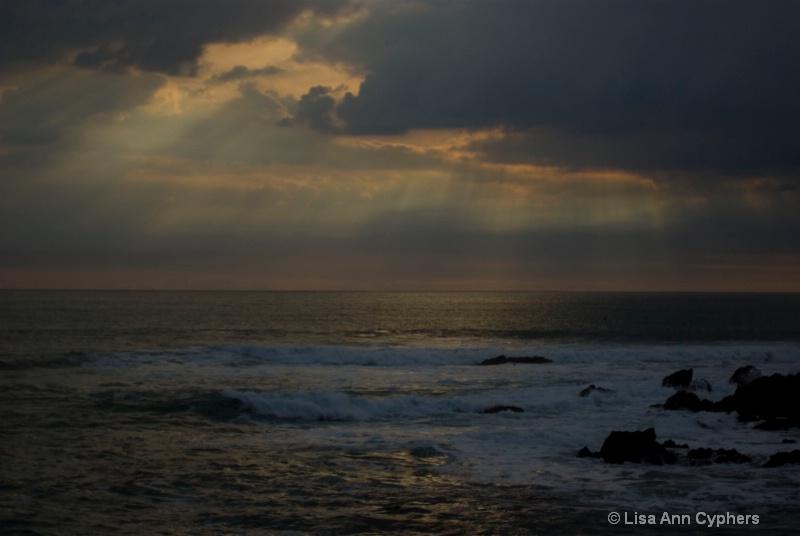 sunset @ San Simeon before the storm