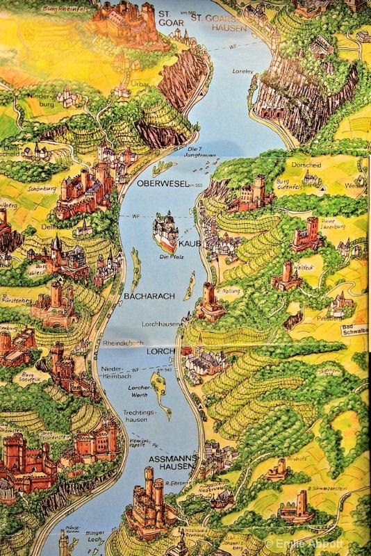 Map St. Goar to Assmannshausen