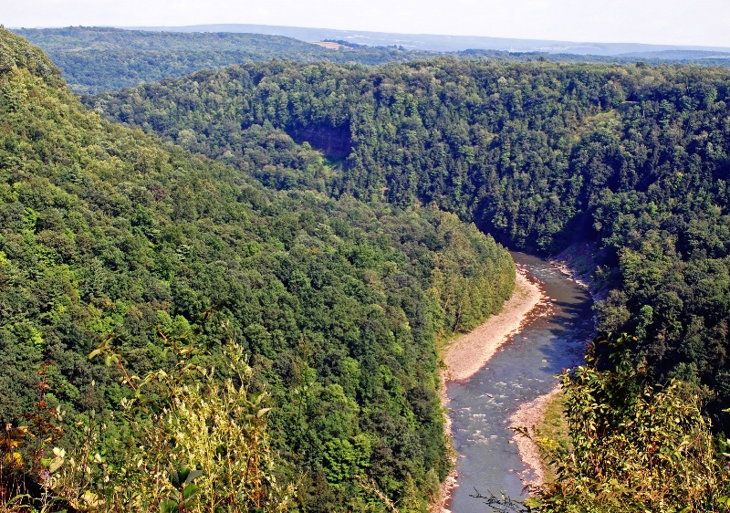 Scenic Overlook At Letchworth