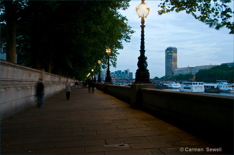 Thames Embankment Early Evening