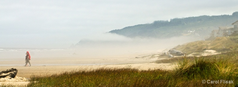 Beach Walk in Foggy Florence, Oregon